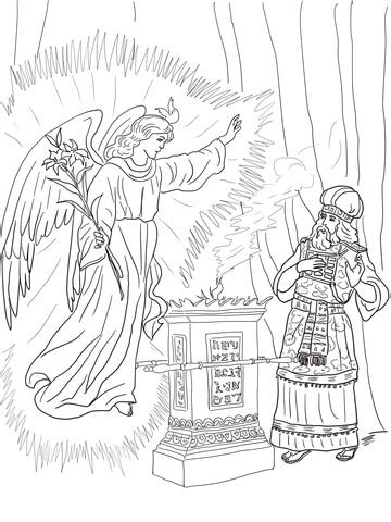 Coloring Page Zacharias And Elizabeth by Zacharias And Elizabeth Coloring Coloring Pages