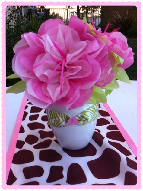 tissue paper centerpieces baby shower 17 best images about jungle theme on