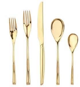 modern flatware sambonet h art gold 5 piece place setting modern