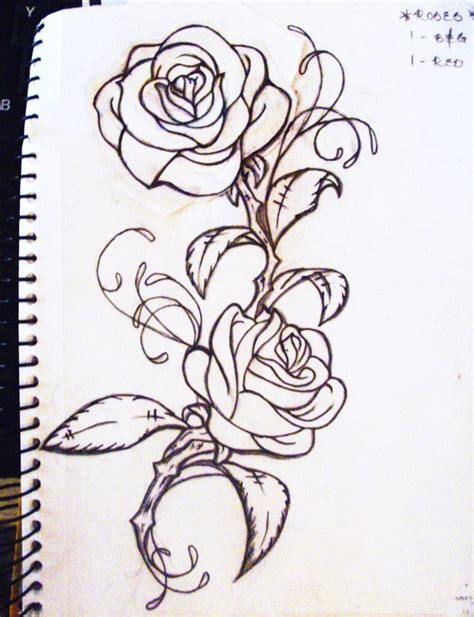 vine with roses tattoo designs thinking of something like this for my right arm half