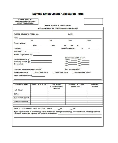 general employment application template blank employment application general blank employment