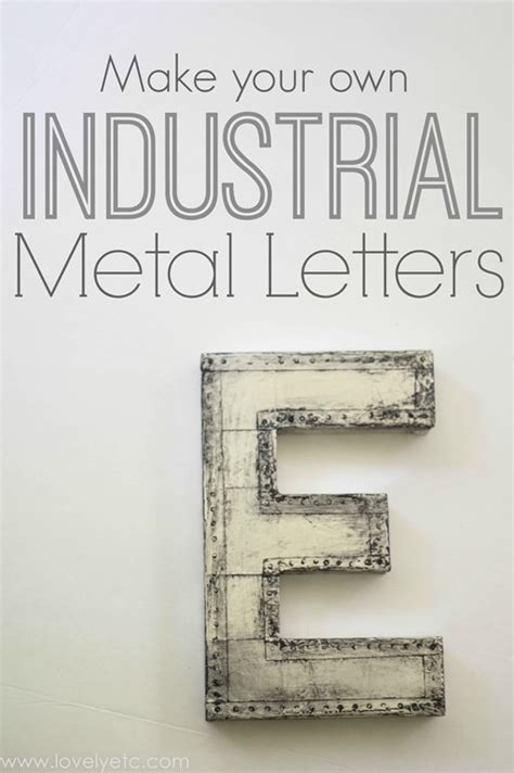 Create Your Own Custom Metal - diy industrial marquee letter lovely etc