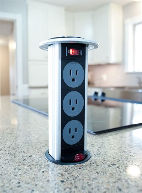 Pop Up Electrical Outlet Countertop by Kitchen Island Pop Up Outlet Kitchen
