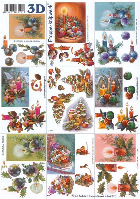3d decoupage sheets mini candles designs 3d decoupage sheet