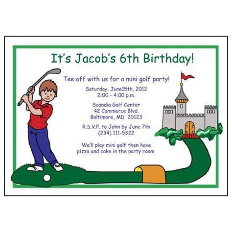 golf birthday card template mini golf birthday invitation boy mandys moon