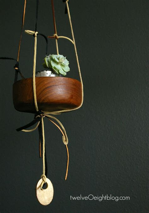 Diy Leather by Diy Knotted Leather Hanging Planter