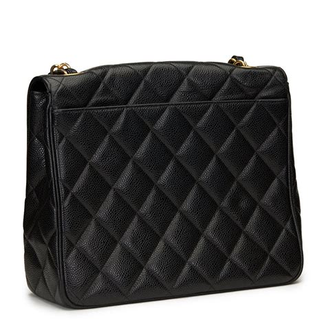 Mf 003 Black Original chanel black quilted caviar leather vintage classic single flap bag hb1100 ebay