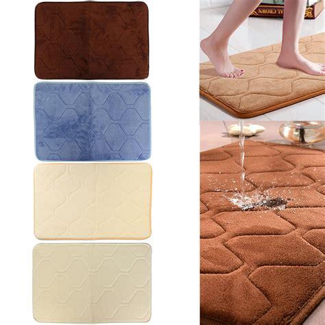 40x60cm absorbent soft memory foam mat bath rug antislip carpet alex nld