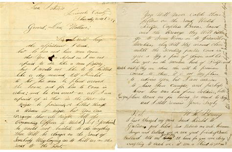 Letter Artifact Letter From William H Bonney Better Known As Billy The
