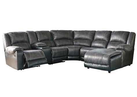 right facing chaise sectional ivan smith nantahala slate right facing corner chaise