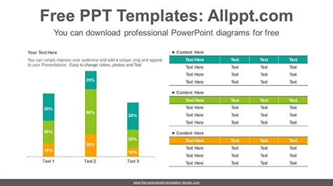 stacked diagrams for powerpoint stacked vertical bar chart powerpoint diagram template