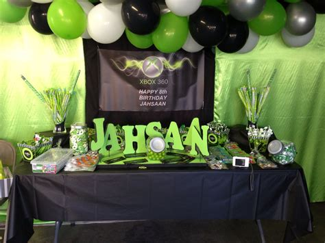 Xbox 360 Themed Birthday Party | xbox party this looks so cool i am weslie and i like