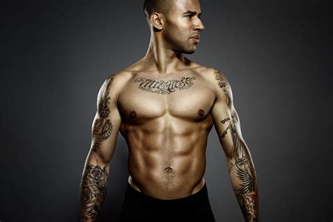 top 12 ripped athletes with tattoos tattoodo