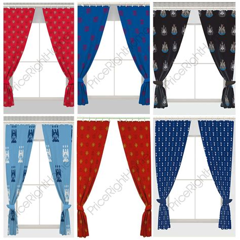 fc barcelona curtains football curtains kids bedroom available in 54 quot 72