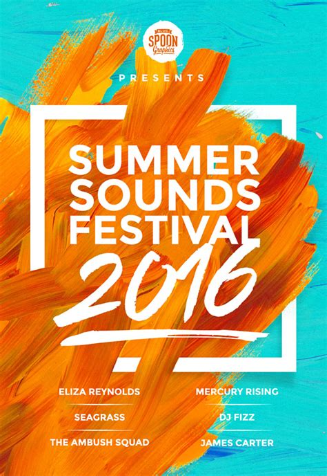 ad home design show 2016 how to create a music festival poster design in photoshop
