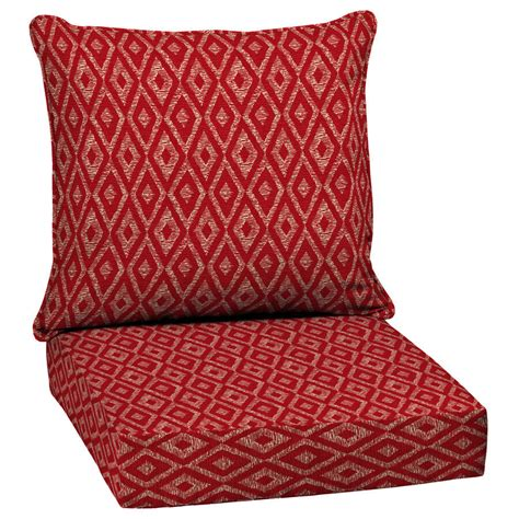 outdoor patio high  cushion red replacement  deep