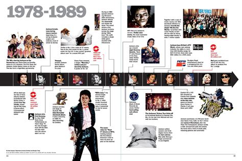 google michael jackson biography magazine timeline layout google search magazine