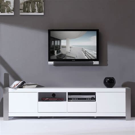 b modern furniture b modern bm 100 wht composer 79 quot contemporary tv stand in high gloss white lacquer
