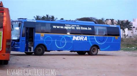 Sleeper Buses From Hyderabad To Bangalore by Apsrtc Indra A C At Byapanahalli Stand Bangalore