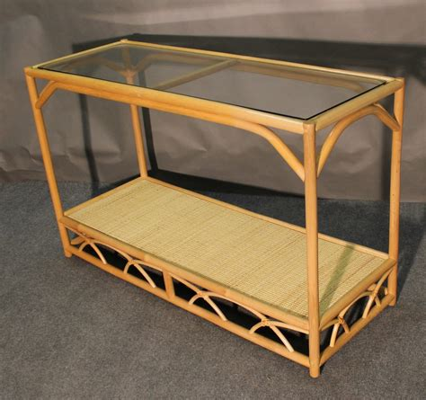 wicker sofa table aruba rattan console sofa table all about wicker