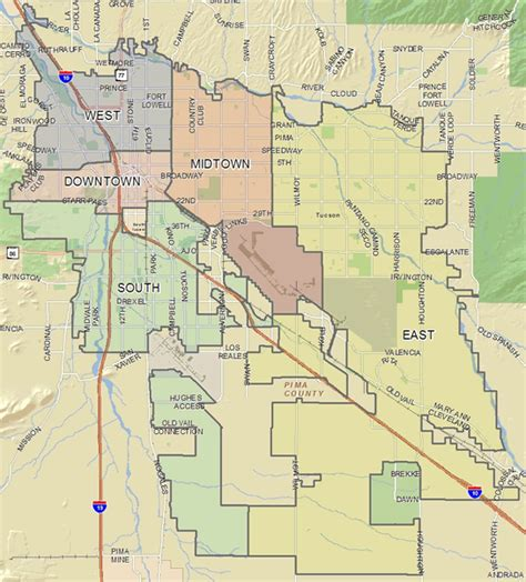 city of tucson license section crime prevention map