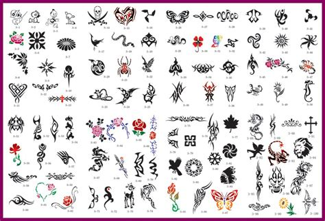 design your own tattoos poster chart for display purposes only and is not included