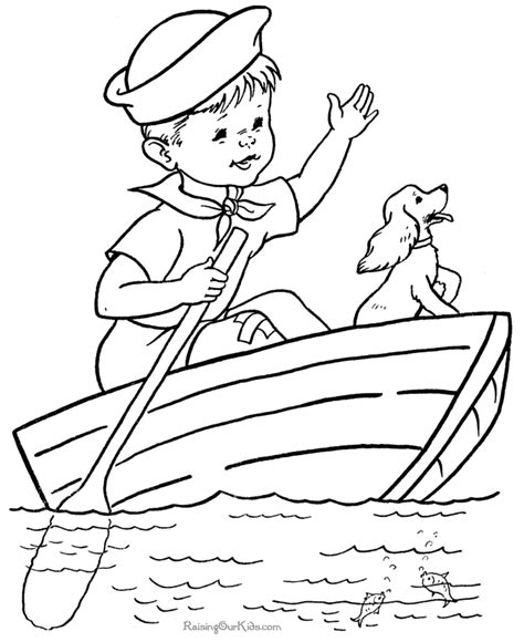 printable coloring pages boats skiff boat plans free online voles