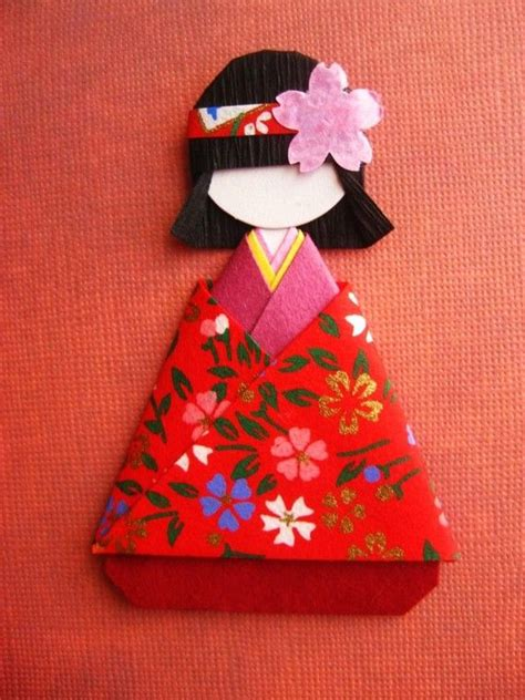 Japanese Paper Crafts - 130 best paper dolls origami images on paper