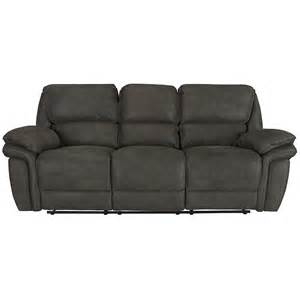 city furniture kirsten dk gray microfiber reclining sofa