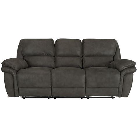 gray reclining sofa city furniture kirsten dk gray microfiber reclining sofa