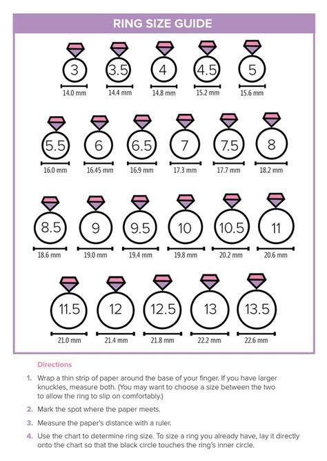 printable ladies ring size chart ring doesn t fit here s the easiest way to find your size