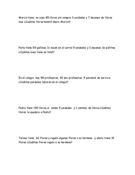 problemas para 2 de primaria slideshare newhairstylesformen2014com ejercicios de matematica problemas 2do grado de primaria
