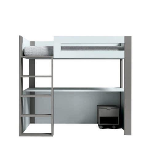 escritorio litera litera vitta con escritorio azul gris tegar mobel