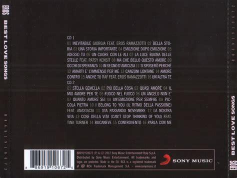 eros ramazzotti the best copertina cd eros ramazzotti eros best songs back