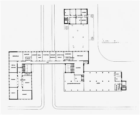 gropius house floor plan bauhaus elevation plans bauhaus building floor plan