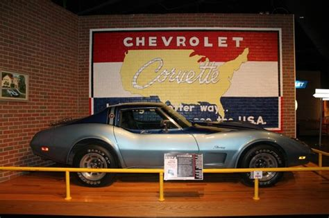 one of many cars on display picture of national corvette
