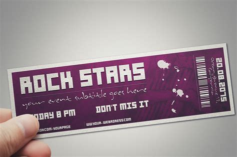 design event tickets photoshop multipurpose event ticket card templates creative market