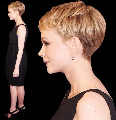 pixie cute front back and side view 12 04 a closer look at carey mulligan s pixie boy cut