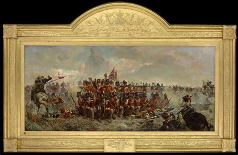 Victorian Wall Murals 28th regiment at quatre bras painting wikipedia