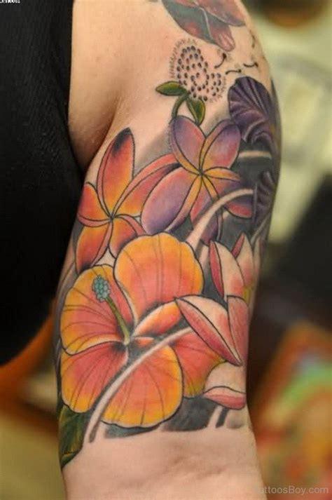 hibiscus quarter sleeve tattoo hibiscus tattoos tattoo designs tattoo pictures page 2