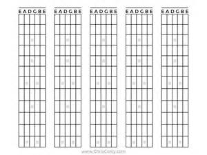 Printable Guitar Fretboard Template by Blank Guitar Fretboard Diagram Blank Free Engine Image