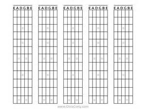 Guitar Fretboard Template by Blank Guitar Fretboard Diagram Blank Free Engine Image