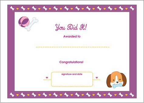 free printable childrens certificates templates free printable