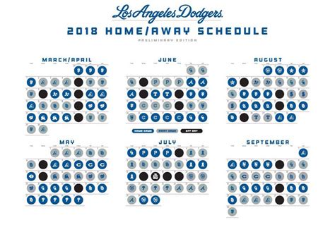 Dodger Schedule Giveaways - los angeles dodgers 2018 regular season schedule dodgerblue com