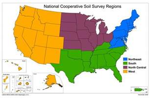 regional map map of the ncss regions nrcs soils