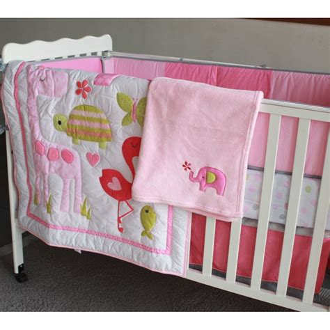 elephant baby girl bedding pink elephant baby girl crib bedding set