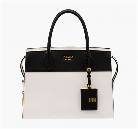 Black Fashion Bag black and white pradas prada bags shop