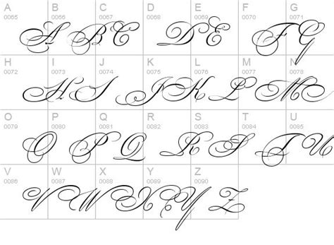 tattoo fonts pdf 17 best ideas about cursive letters on