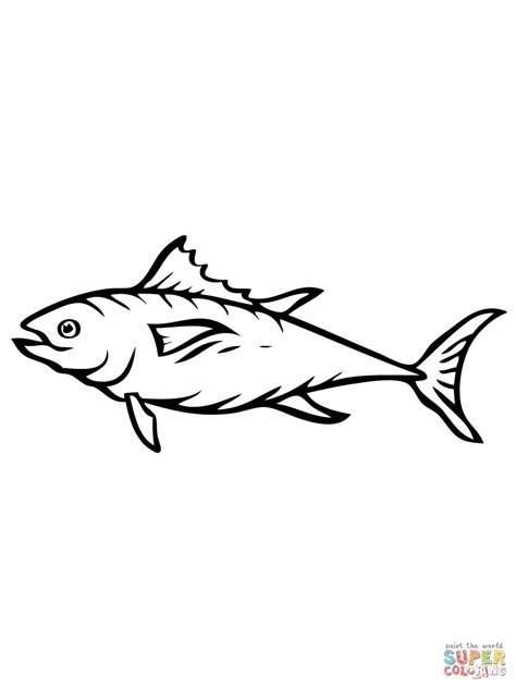tuna fish coloring page free printable coloring pages