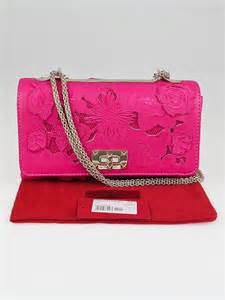Accessorize Cut Out Flap Bag by Valentino Pink Leather And Lace Cut Out Girello Flap Bag